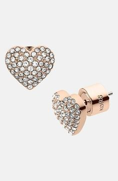 Pavé Heart Stud Earring by MMK