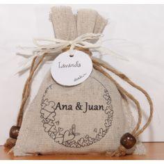 Bolsa de lino con lavanda