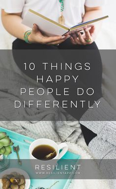 Did you know that happy people do a few things differently that make all the…