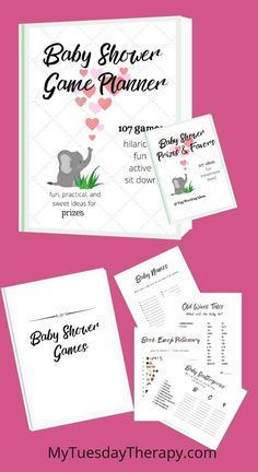 Baby shower game planner, prize and favor ideas, baby shower favor tag wording ideas, favor tag printables, baby shower game printables for boy or girl baby shower. Baby Shower Prizes, Cheap Baby Shower, Simple Baby Shower, Baby Shower Favors, Baby Shower Games, Baby Shower Centerpieces, Baby Shower Decorations, Baby Word Scramble, Baby Words