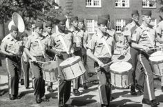 Cadets marching to mess, 1979