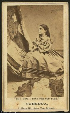Rebecca 1863...Rebecca had many different photos of her taken to raise money to help the black children of slavery