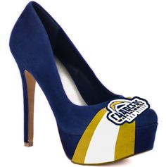San Diego Chargers Heels  :) I would totally wear these to a game!  Hahaha