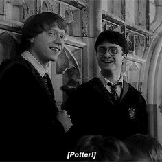 « And Potter, take Weasley with you. He looks far too happy over there » Minerva MacGonagall