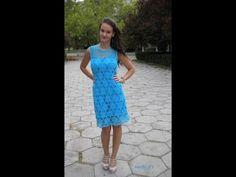 how to crochet dress free pattern - YouTube