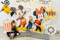 Minnie Mouse, Fiesta Party, The Dreamers, Backdrops, Disney Characters, Fictional Characters, Birthday Parties, Kids, Baby