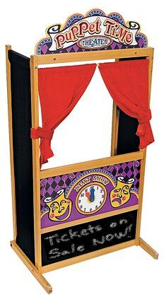 Melissa & Doug Deluxe Puppet Theater - Free Shipping I am going to make one like this from two Ikea panels and some hardboard.
