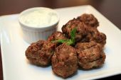 Greek Meatballs - CookingShorts.com: Game Day Recipe - super yummy!