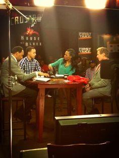 @Niki Hyer: @Chris Carlson on the set of @ESPN_FirstTake.