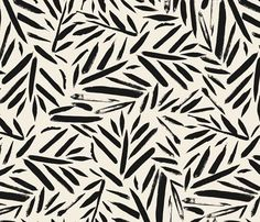 Not So Black and White Leaves fabric by crystal_walen on Spoonflower - custom fabric: pattern design