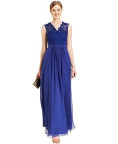 Blue, Long Dresses - Macy's