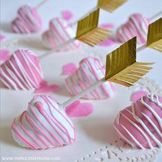 Shot Through the Heart Cake Pops #recipe via Hello Little Home http://www.yummly.com/recipe/Shot-Through-The-Heart-Cake-Pops-1475956