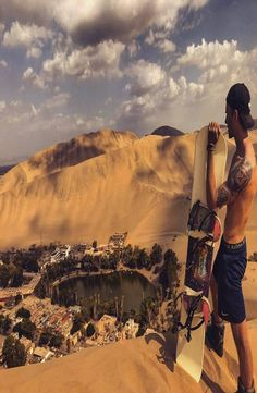 Huacachina oasis is located south of Lima, north of Nazca just a 10 minute drive from the desert city, Ica. How to get to Huacachina. Huacachina Peru, Travel Guides, Travel Tips, Nazca Lines, Peru Travel, South America Travel, Group Travel, Travel Memories, Machu Picchu