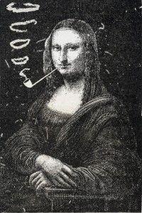 Eugène BATAILLE, dit Arthur SAPEK, Illustration pour Le rire, Mona Lisa fumant une pipe, 1887.