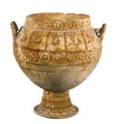 Cratere etrusco-geometrico, da Bisenzio (Viterbo). 725-700 a.C. Città del Vaticano, Museo Gregoriano Etrusco.