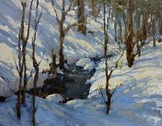 Winter on Miller Creek by Bill Cramer Oil ~ 11 x 14 Painting Snow, Winter Painting, Winter Art, Painting & Drawing, Landscape Art, Landscape Paintings, Beautiful Paintings, Pastel Paintings, Snow