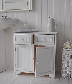 Maine Free Standing Bathroom Cabinet Double Cupboard