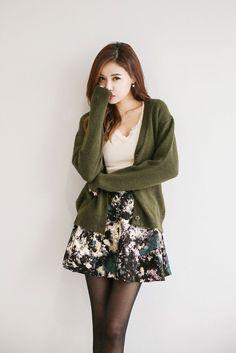 V-Neck Knit Button Cardigan | Korean Fashion                                                                                                                                                                                 More