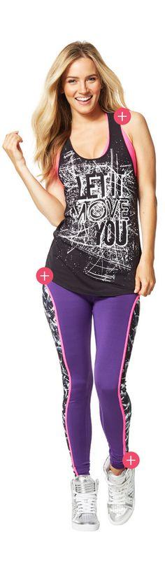 Damen-Fitness-BHs, Tanktops, Racerbacks & T-Shirts | Zumba-Tops | Zumba Fitness