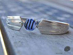$21.50 Bracelet, silverware jewelry, spoon jewelry, silverware art, fork bracelet by SennaDesigns on Etsy