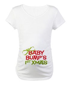Give pregnancy a little personality with this too-cute top. This cozy cotton tee features side ruching and a classic v-neck for figure-flattering comfort.100% cottonMachine washImported