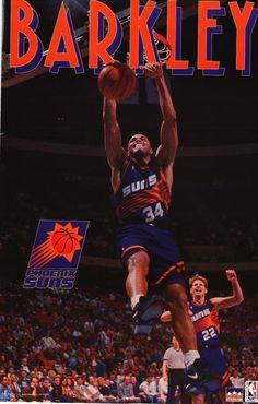 STARLINE POSTER~Charles Barkley 1993 Phoenix Suns Vintage NBA Original 22x34~ | eBay