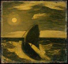 """The Toilers of the Sea,"" Albert Pinkham Ryder, ca. 1880–85, oil on wood, 11 1/2 x 12"", Metropolitan Museum of Art."