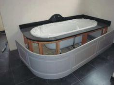 hout in badkamer - afwerking bad