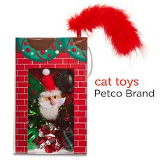 Assorted holiday cat toys from Petco's Holiday Gift Guide.