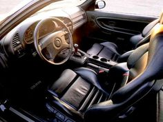 E36 BMW M3 interior, leather, black, dashboard, pictures