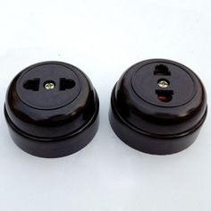 Wall Switches Socket Surface Mounted Two hole Outlet Socket Strip Old Single Black 10A Circular-in Wall Switches from Electrical Equipment & Supplies on Aliexpress.com | Alibaba Group