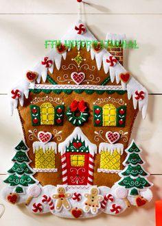 Bucilla Nordic Gingerbread House Felt Advent Calendar Kit