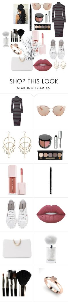 """Untitled #138"" by khausar26 ❤ liked on Polyvore featuring T By Alexander Wang, Christian Dior, Bobbi Brown Cosmetics, Puma, NYX, Superga, Lime Crime, SOKO, Glamour Status and purse"