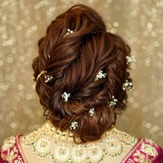 "Orange The Salon ""Portfolio"" album - Bridal Hairstyle for Long Hair Bridal Wedding Hairstyle, Mehendi Hairstyle. Black And Silver Eye Makeup, Simple Wedding Hairstyles, Bridal Hairstyle, Wedding Preparation, Hair Today, Bun Hairstyles, Salons, Stylists, Album"