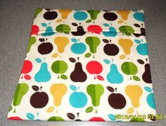 Microwave Baked Potato Bag  Retro Apples and by SusiesUniqueChic, $6.00
