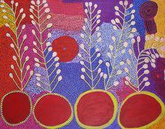 Ruby Tjangawa Williamson / Ultukunpa - Honey Grevillea 2012 153 x 198 cm Aboriginal Painting, Aboriginal Artists, Dot Painting, Australian Art, Aboriginal Art Australian, Atelier D Art, Guache, Indigenous Art, Native Art