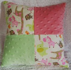 nursery pillow made withCarters Jungle Jill by whimsicalbaby2013, $12.95