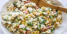 Cucumber Cauliflower Corn Salad