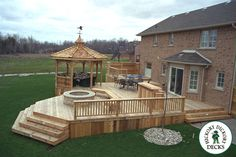 Building a deck will provide you with step by step information from start to fin. - For Cookeville house - Garden Deck Small Backyard Decks, Backyard Layout, Decks And Porches, Patio Decks, Decking, Design Cour, Design Jardin, Cool Deck, Diy Deck