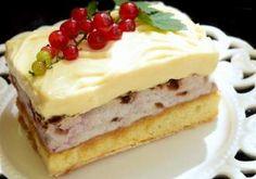 Prăjitură cu cremă de lămâie și coacăze roșii. Un desert de vară dulce-acrișor. Caramel, Healthy Food, Healthy Recipes, Pastries, Biscuit, Cheesecake, Desserts, Houses, Sticky Toffee