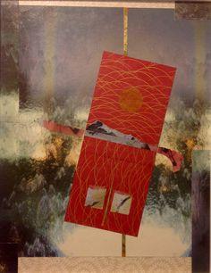 Nino Bellantonio. 'Chiodo; Winter' (Collage  mixed media and cold wax on canvas board, 36cm x 46cm; 49cm x 59cm in archival quality frame). SOLD