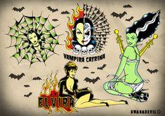 Monster Tattoo Flash | she monster tattoo flash ref sm001 tattoo flash print creado