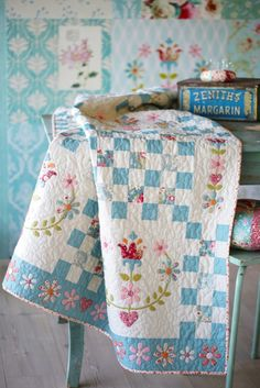 Tilda Cabbage Rose quilt