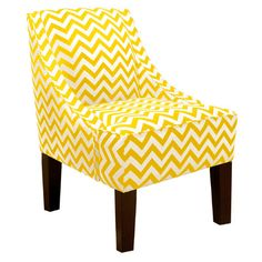 A bit big, but maybe this yellow chair could work in the office