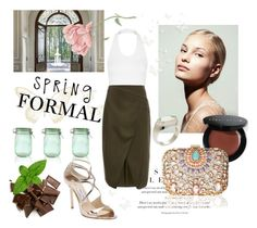 """Spring Formal"" by laurenleigh-bee on Polyvore featuring Topshop, Kilner, Jimmy Choo, Bobbi Brown Cosmetics, Lipsy, Cameo and Gumuchian"