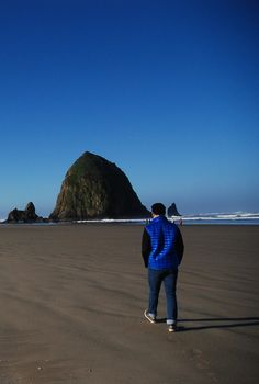 Steven Saden in search of a needle in a Haystack. Zippertravel.com Digital Edition Blues Traveler, Sky Full Of Stars, Cannon Beach, Night Skies, Oregon, Sunset, Digital, Search, World