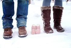 Winter maternity photoshoot. #boots #snow.  Just Cuz Photography Duluth MN