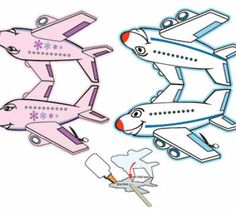 Printable Airplane Puppets