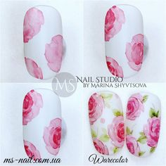 Nail Art Designs In Every Color And Style – Your Beautiful Nails Sharpie Nail Art, Gel Nail Art, Nail Art Diy, Diy Nails, Cute Nails, Nail Designs Spring, Cute Nail Designs, Water Color Nails, Nail Techniques