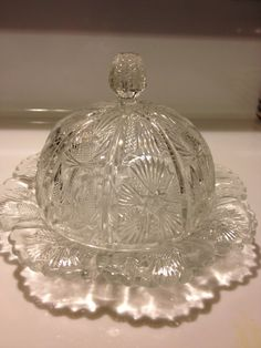 EAPG Higbee Domed Butter Dish Paneled Thistle by Visualaromas